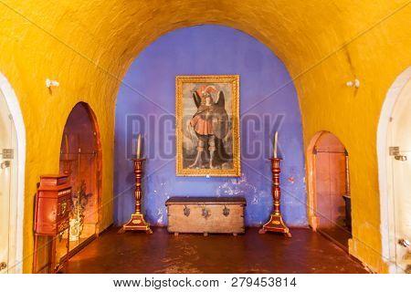 Arequipa, Peru - May 30, 2015: Room In Santa Catalina Monastery In Arequipa, Peru