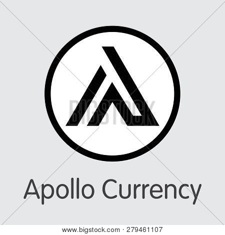 Apl - Apollo Currency. The Logo Of Money Or Market Emblem.