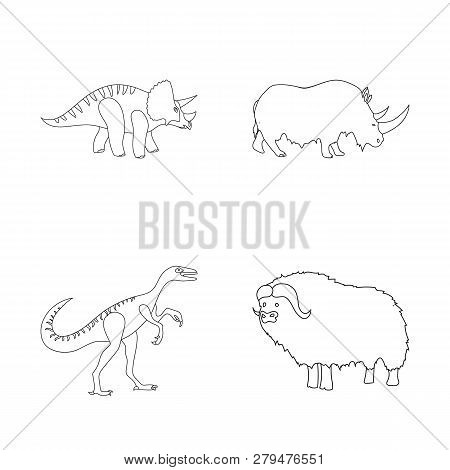 Vector Design Of Animal And Character Symbol. Collection Of Animal And Ancient  Vector Icon For Stoc
