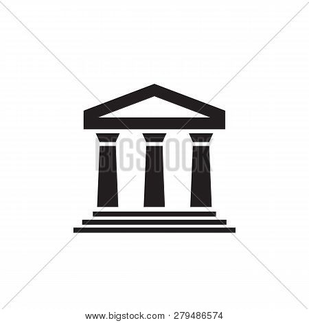 House Build Architecture - Black Icon On White Background Vector Illustration For Website, Mobile Ap