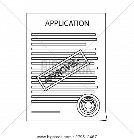 Vector Design Of Form And Document Icon. Set Of Form And Mark Stock Symbol For Web.