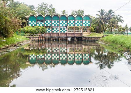 Waterworks On A Canal Near Paramaribo, Suriname