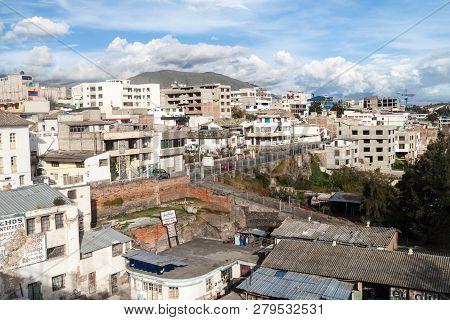 Latacunga, Ecuador - July 6, 2015 View Of Latacunga City