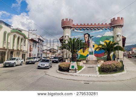 Loja, Ecuador - June 15, 2015: Monument Of Simon Bolivar In Loja Ecuador