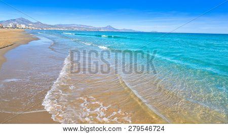 San Juan of Alicante beach playa at Costa blanca of Spain