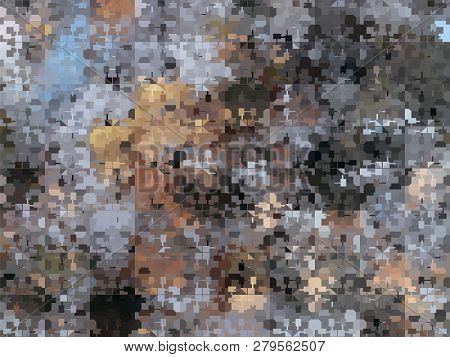 Multi Color Abstract Mosaic Background. Vector Illustration.