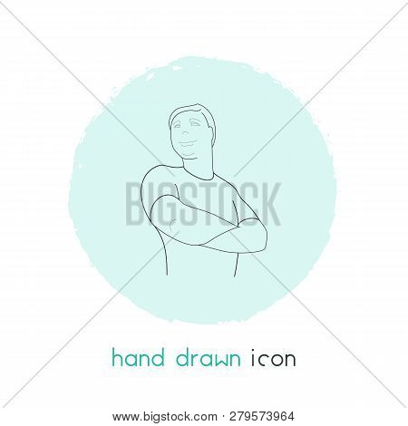 Self-confidence Icon Line Element. Vector Illustration Of Self-confidence Icon Line Isolated On Clea