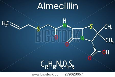 Almecillin (penicillin O) Drug Molecule. It Is Beta-lactam Antibiotic. Structural Chemical Formula O