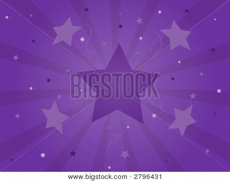 Purple Celebration Starburst