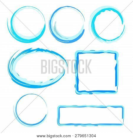 Collection Of Abstract Water Frames For Design. Eps 10