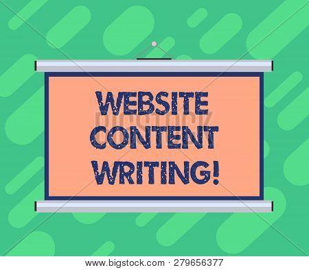 Conceptual Hand Writing Showing Website Content Writing. Business Photo Showcasing Writing An Inform