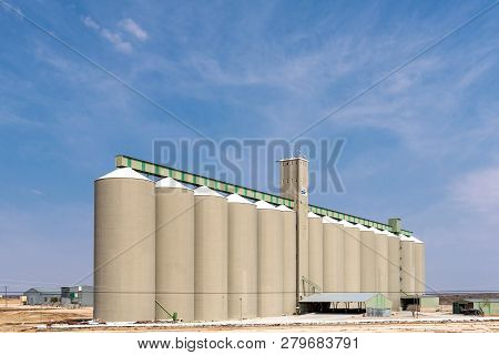 Hopetown, South Africa, September 1, 2018: Grain Silos At Hopetown In The Northern Cape Province