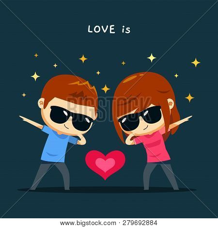 Couple Doing Dab Vector & Photo (Free Trial) | Bigstock