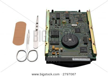 Abstract Photo Of Harddisk Repair