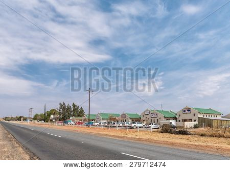 Orania, South Africa, September 1, 2018: The Ou Karooplaas Shopping Centre In Orania In The Northern