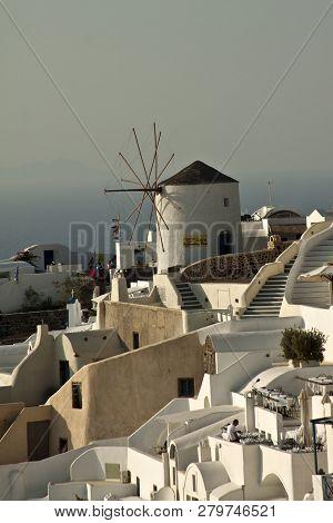 Santorini, Greece - September 19, 2015: Santorini ,thera And Officially Thira , Greece On September