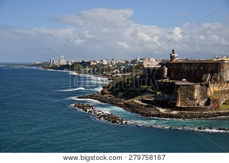 Entering The Port Of San Juan Puerto Rico, Colonial Fortress