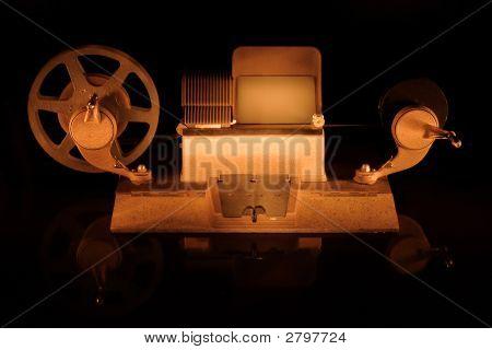 Old Film Editing Machine