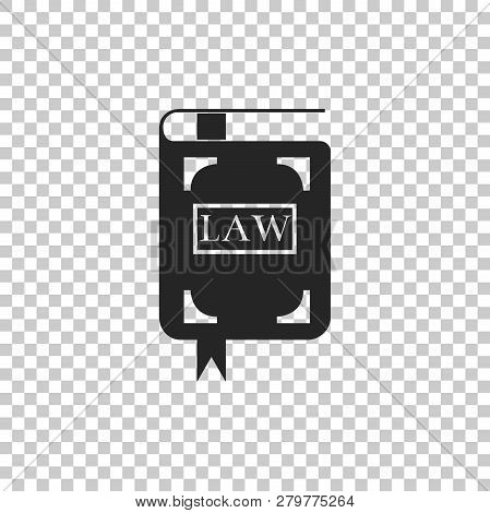 Law Book Icon Isolated On Transparent Background. Legal Judge Book. Judgment Concept. Flat Design. V