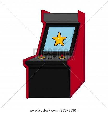 Isolated arcade icon. Videogame. Vector illustration design poster