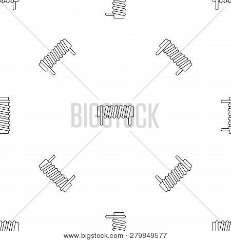 Induction Spring Coil Pattern Seamless Vector Repeat Geometric For Any Web Design
