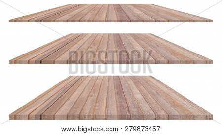 Wood Plate Isolated On White Background. Wood Texture Or Wood Background. Wood For Interior Exterior