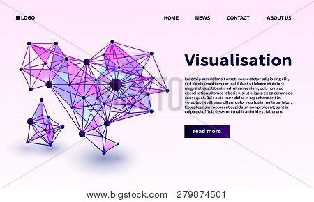 Triangular Point Visualisation Banner. Isometric Illustration Of Triangular Point Visualisation Vect