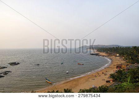 Anjuna Beach, North Goa, India, December 2008, Tourist At Anjuna Beach