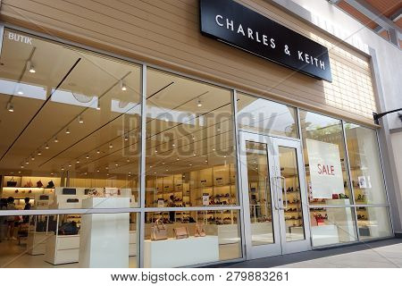 Genting Highlands, Malaysia- Dec 03, 2018: Charles & Keith Store In Genting Highlands, Malaysia. Cha