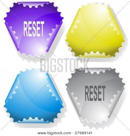 Reset. Vector sticker.