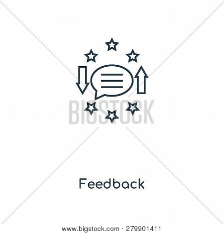 Feedback Icon In Trendy Design Style. Feedback Icon Isolated On White Background. Feedback Vector Ic