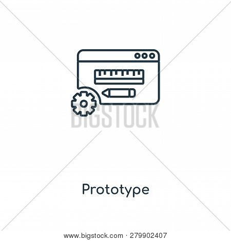Prototype Icon In Trendy Design Style. Prototype Icon Isolated On White Background. Prototype Vector