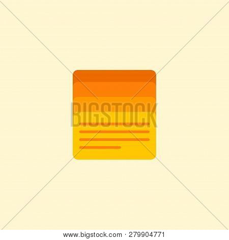 Task List Icon Flat Element.  Illustration Of Task List Icon Flat Isolated On Clean Background For Y