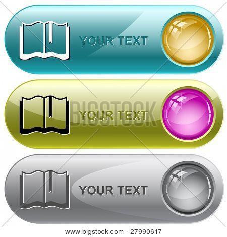 Book. Vector internet buttons.