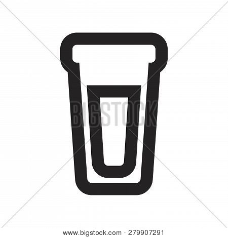Water Glass Vector Icon On White Background. Water Glass Icon In Modern Design Style. Water Glass Ve
