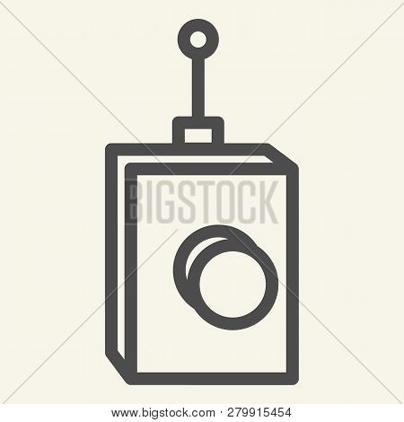 Remote Controller Line Icon. Remote Controller With Antena Vector Illustration Isolated On White. Te