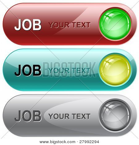 Job. Vector internet buttons. poster