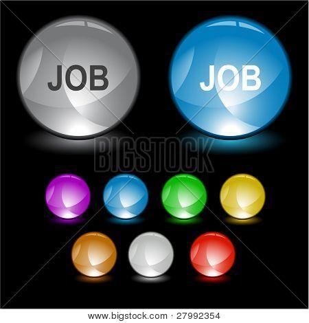Job. Vector interface element.