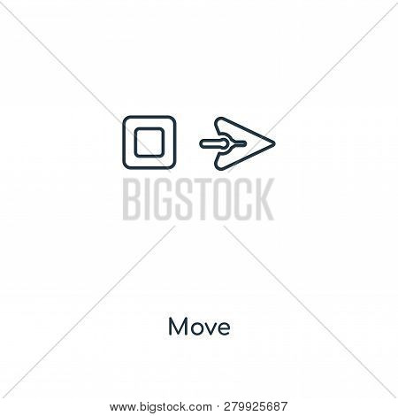Move Icon In Trendy Design Style. Move Icon Isolated On White Background. Move Vector Icon Simple An
