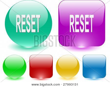 Reset. Vector interface element.