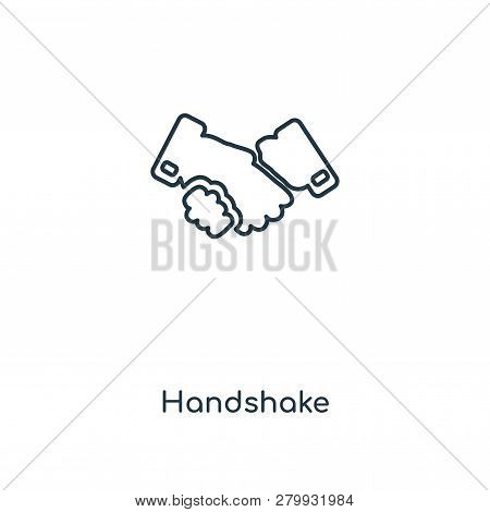 Handshake Icon In Trendy Design Style. Handshake Icon Isolated On White Background. Handshake Vector