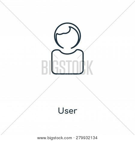 User Icon In Trendy Design Style. User Icon Isolated On White Background. User Vector Icon Simple An