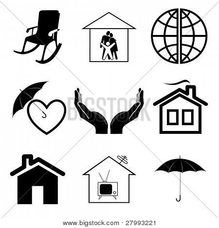 Vector icons of home comfort