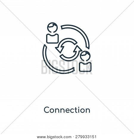 Connection Icon In Trendy Design Style. Connection Icon Isolated On White Background. Connection Vec