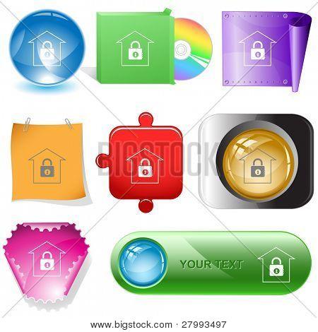 Bank. Vector internet buttons.