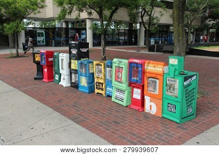 Baltimore, Usa - June 12, 2013: City Newspapers In Baltimore. Baltimore Is The Largest City In The S