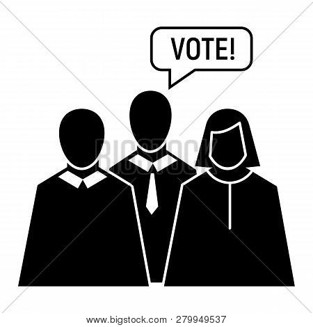 Vote Oratory Icon. Simple Illustration Of Vote Oratory Icon For Web Design Isolated On White Backgro