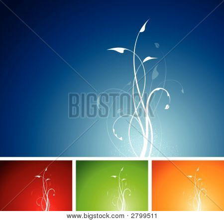 Floral Plant Background