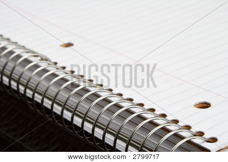Metal Spiral Of Notebook