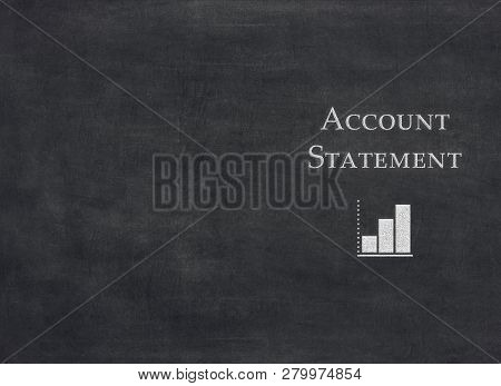 Account Statement On Black Background To Mean A Concept
